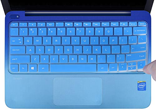 CaseBuy Keyboard Cover Compatible 2019 2018 2017 HP Stream 11 ah110nr ah012dx ah112dx / HP Stream 11 Pro G4 G2 11.6 / HP Stream 11 y010wm y010nr y020nr Soft-Touch Protective Skin, Blue