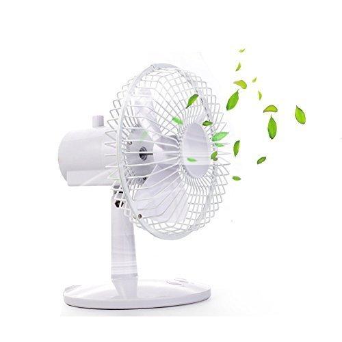 Yopin Oscillating Fan, Quiet Battery Operated Fan & USB Fan with 70 Degree Oscillation, 3 Speed Settings, Adjustable Tilt Desk Fan Battery Fan for Office, Bedroom,Baby Sleeping,Household