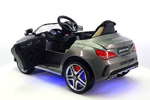 Mercedes CLA45 12V Kids Ride-On Car MP3 USB Player Battery Powered Wheels RC Parental Remote + 5 Point Safety Harness | Metallic Grey by Moderno Kids (Image #2)