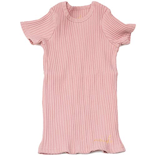 - Silky Toes Little Girls Boys Kids Crewneck Cotton Ribbed Short Sleeve T-Shirt (3 Years, Dusty Pink)