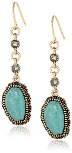 Barse Kismet Turquoise Drop Earrings