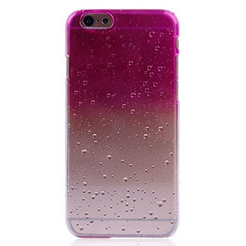 Mxnet Regentropfen Gradient Hard Case für iPhone 6 & 6S rutschsicher Telefon-Kasten ( Color : Magenta )