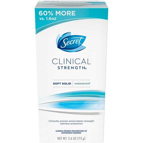 Secret Clinical Strength Waterproof Antiperspirant/Deodorant, 2.6 Ounce -- 12 per case. by Procter And Gamble (Image #1)