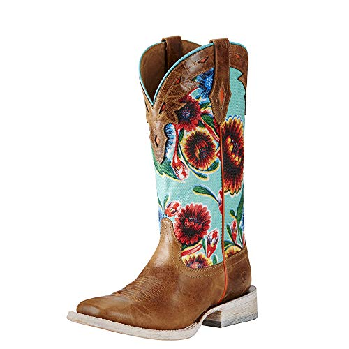 (Ariat Women's Circuit Champion Western Cowboy Boot, Bitter the Dust Brown, 7 B US)