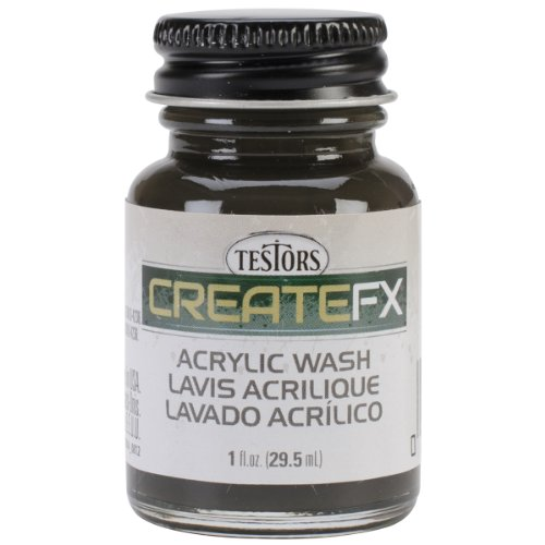 Testor Corp. Createfx Acrylic Wash 1oz-Black (Wash Acrylic)