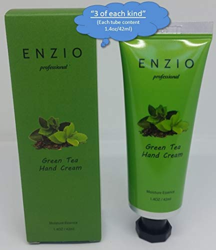 """ENZIO Professional Grade Shea Butter Based Hand Cream Lotion Gift Set """"Party Pack"""" (7 variety x 3 = 21 tubes total) (Free of Parabens, Benzophenone, Talc, and Color Additives) by ENZIO (Image #4)"""