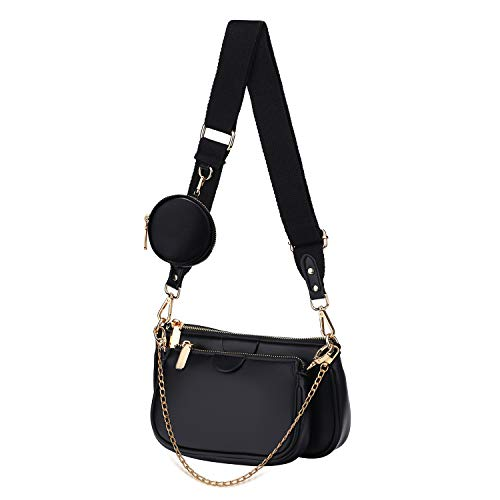 Yaluxe Multipurpose Crossbody Bag for Women Multi Purse PU Leather Zip Handbags with Coin Pouch Fashion