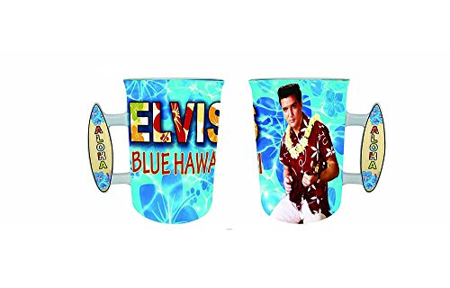 Elvis Presley 16 Oz Mug Blue Hawaii With Surfboard Handle