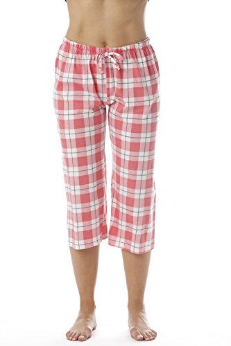 - Just Love Womens Pajama Plaid Capri Pants Sleepwear 6331-10018-COR-XL