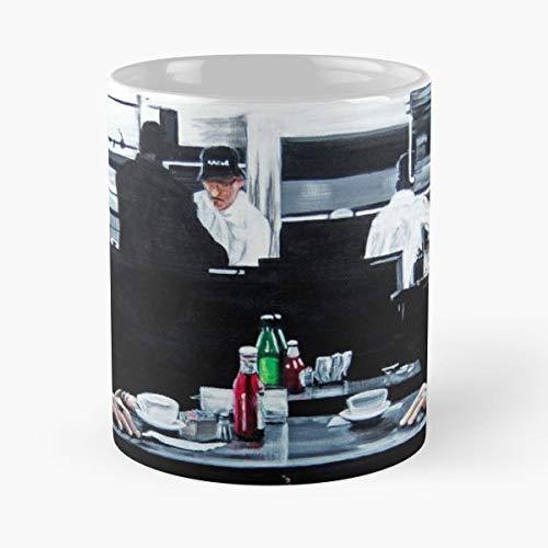 Best 11 Ounce Ceramic Coffee Mug Gift Heat Robert Deniro Al Pacino Michael Mann Movies Portrait Coffee Shop Abacaart