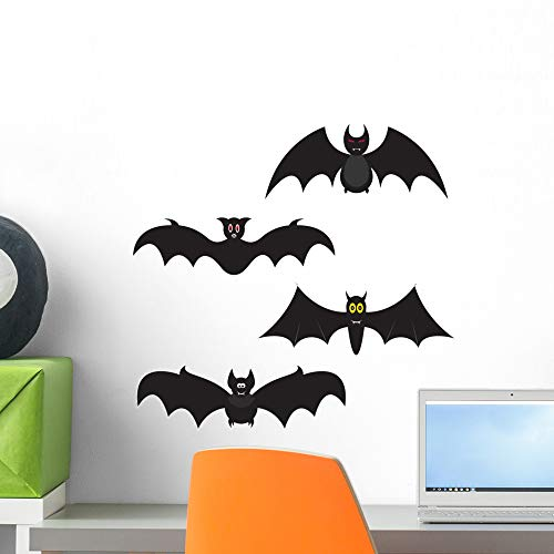 Set Halloween Bats Wall Decal by Wallmonkeys Peel and Stick Graphic (18 in H x 18 in W) WM195256]()