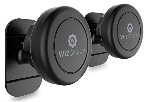 Magnetic Mount, WizGear Universal Stick On (2 Pack) Dashboard Magnetic Car Mount Holder, for Cell Phones and Mini Tablets with Fast Swift-snap Technology, Magnetic Cell Phone Mount ()