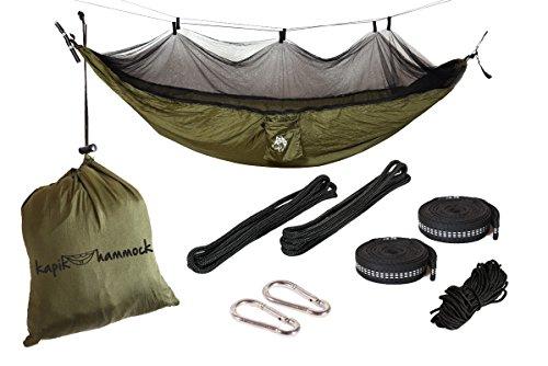 Kapik Hammock With Mosquito Net (Army Green) (Army Mosquito Net)