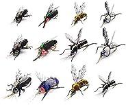 Realistic Fly Fishing Flies Set Dry Mosquito Bottle Flies Steelhead Rainbow Trout Handmade Fishing Lure kit Fl