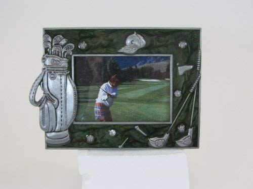 Navika PGA Golf Memorabilia Enamel and Pewter Photo Frame, Green, 2 1/2 x 3 - Enamel Pewter