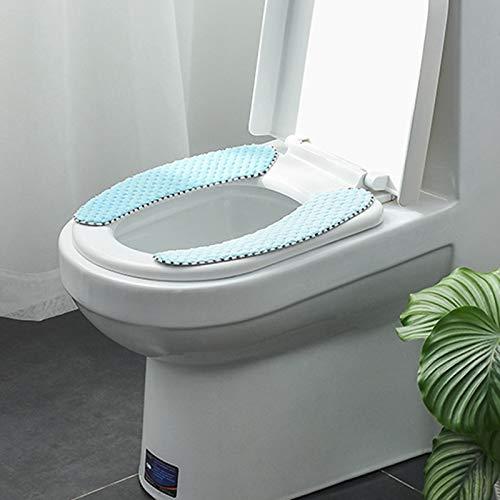 Rongxin Badkamer Toilet Zitkussen Closestool Wasbare Zachte Warmer Mat Pad toiletzitting toiletzitting (Kleur: Blauw…