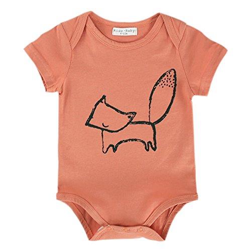 [Vimuntado Baby Bodysuits Unisex Newborn Clothes Funny Onesie 0 3 6 9 Months Summer Girls Romper Jumpsuit Infant Boy (6-12 Months, R18 FOX)] (Halloween Body Painted Costumes)