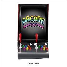 Vipsung Microfiber Ultra Soft Hand Towel-Video Games Arcade Machine Retro Gaming Fun Joystick Buttons Vintage 80S 90S Electronic Decor Multicolor For Hotel Spa Beach Pool Bath