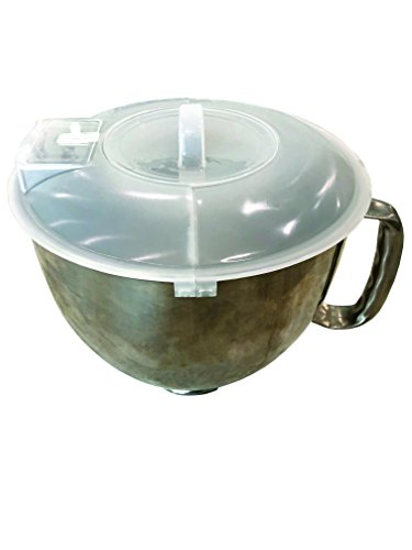 Axis International 1622 3 in 1 Mixing Bowl Cover For Kitchen Aid, 4.5 and 5 quart, clear