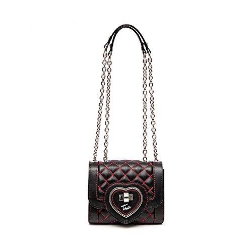 Braccialini Tua Italia Designer Shoulder Bag Minibag Evening Clutch Bag Black