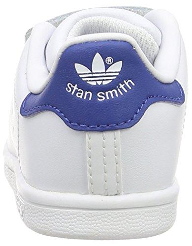 adidas Unisex Baby Stan Smith CF I Lauflernschuhe Weiß (Ftwr White/Ftwr White/Eqt Blue S16)