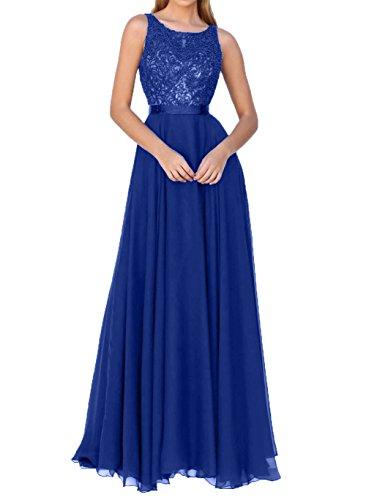 Partykleider Charmant linie Damen Elegant Abendkleider Blau A Brautmutterkleider Spitze 2018 Neu Royal Festlichkleider OzOqdtxwrY