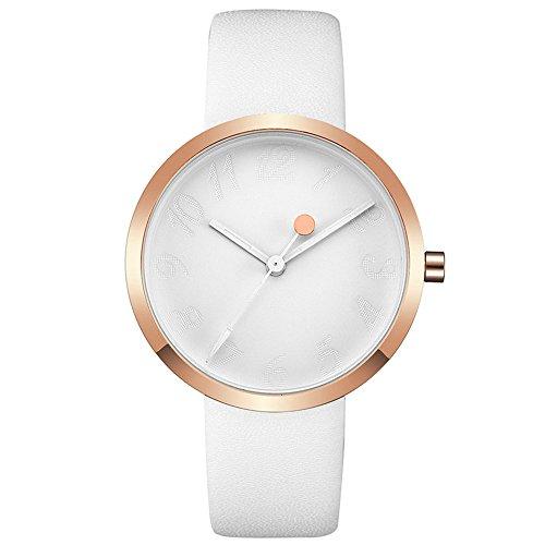 Watch Womens Ladies Fashion Luxury Dress Analog Watches Rose Gold Minimalist Quartz Ultra Thin Watch