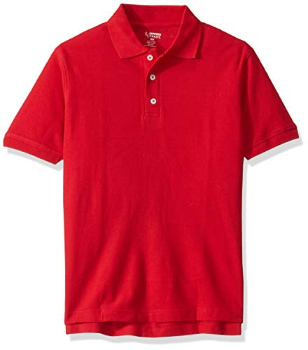 French Toast Boys' Big Short Sleeve Pique Polo Shirt Original, Red, 10 Husky Boys Original Pique Polo Shirt