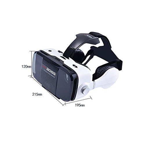 3D Virtual Reality Headset 2017 Newest VR Glasses - for iPhone 7/ 7 Plus/6s/6 plus/6/5, Samsung Galaxy, Huawei, Google, Moto & All Android Smartphone Plus Special Adjustable Eye Care System