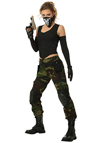 Women's Fighting Soldier Costume Small