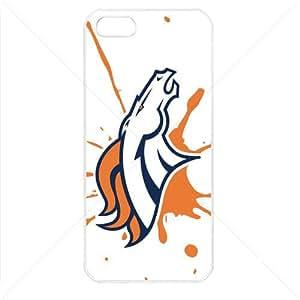 NFL American football Denver Broncos Fans Apple iPhone 5 5S TPU Soft Black or White case (White)