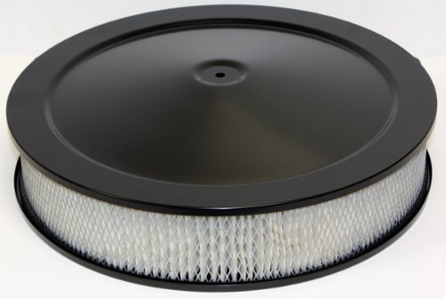 CFR Performance Compatible/Replacement for Chevy/ford/mopar 14″ Black Steel AIR Cleaner SET – Hi-lip Base