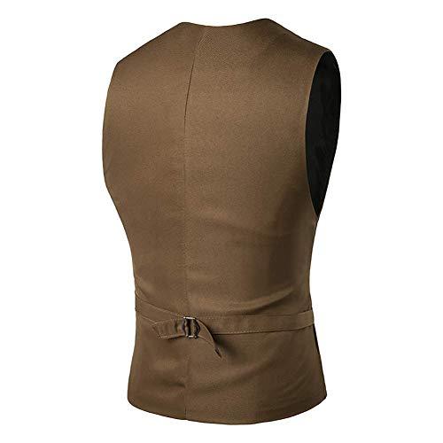 Sans Pour Gilet Taille Slim Taille Costume M 5 Manches Mariage couleur Vestes hiver Mode coloré Solide Hommes Robe 1 Automne Fit Hommes 2 Fuweiencore De Xl AFOHn8qH