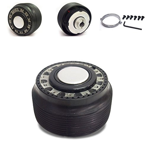 Black 6-Hole Racing Steering Wheel Hub Adapter For 90-93 Accord CB CD/92-96 Prelude BA ()