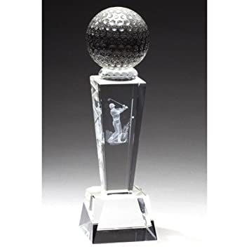 Crystal Golf Trophy With Free Engraving