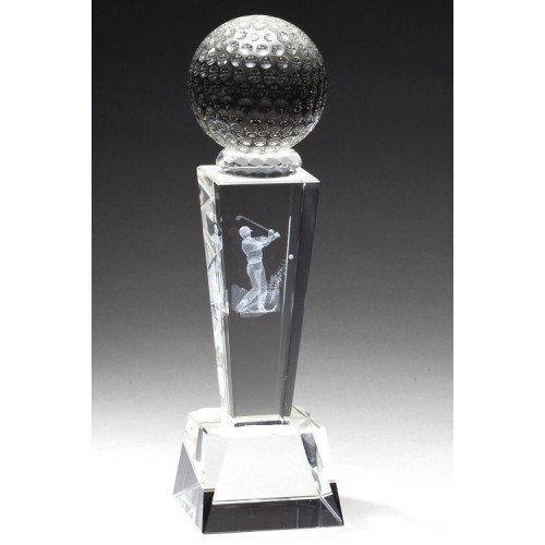 Crystal Golf Trophy with Free - Awards Golf Crystal