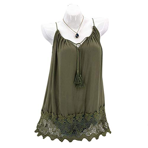 liberalism Vest Summer Lace Sleeveless Loose Crop Tank Swing T-Shirt Women's XXX-Large by liberalism (Image #3)