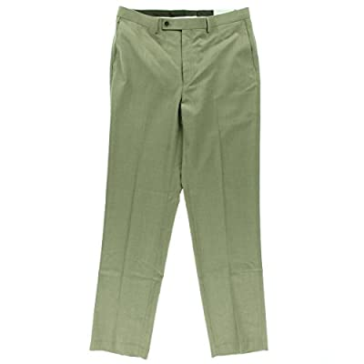 Calvin Klein Mens Pindot Flat Front Dress Pants