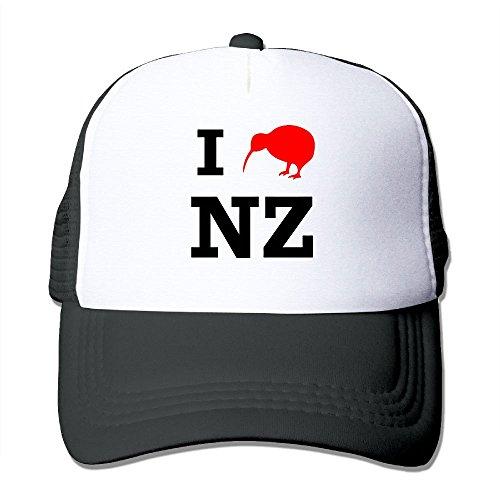 PARP9E Adjustable Men's Women's Mesh Cap I Love New Zealand Trucker Hat Trucker Hat (New Suede Newsboy Hat)