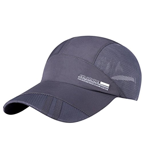 Aniywn Clearance Price! Adult Mesh Hat Quick-Dry Collapsible Sun Hat Outdoor Sunscreen Baseball Cap (Free, Gray)