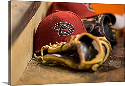 "an Arizona Diamondbacks hat - Canvas Wall Art Gallery Wrapped Ready to Hang - 30""x20"""