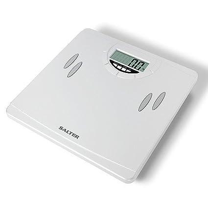 Salter 9139 WH3R – Báscula compacta analizadora, báscula de baño, color blanco
