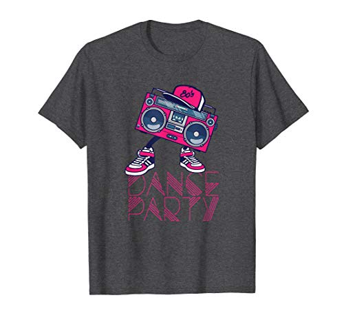 80's Dance Party Boombox Shirt (Real 80s Boombox)