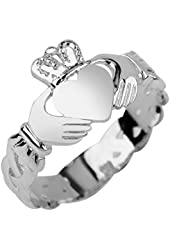 10K White Gold Women's Claddagh Ring
