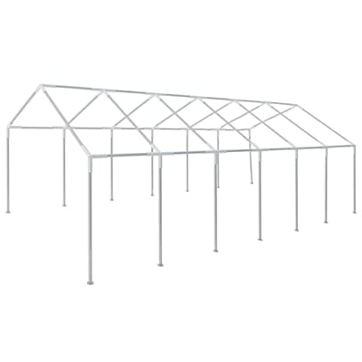 Unfade Memory Outdoor Patio Canopy Gazebo Frame Steel Frame for 39.4' x 19.7' Party Tent : Garden & Outdoor