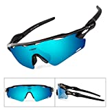BATFOX Polarized Sports Sunglasses TAC Glasses with Interchangeable Lenses...