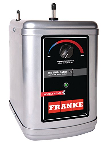 200 Ht Heating Tank (Franke HT-300 Little Butler Under Sink Instant Hot Water Filtration Heating Tank, 300-Watt (Latest Version), Compact, Silver and Black)