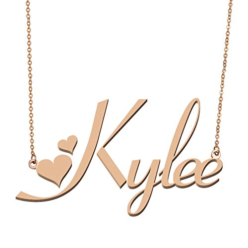 Aoloshow Customized Custom Name Necklace Personalized - Custom Made Kylee Necklace Initial Monogrammed Gift for Womens Girls ()