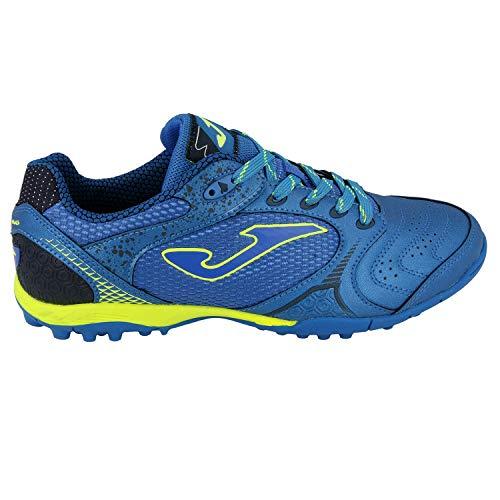 Joma Dribbling TF - Zapatillas de fútbol para Hombre, Royal Blue/Neon Yellow, 10 M US