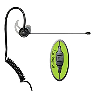 Klein Electronics Comfit-M1 Noise Canceling Pro-Audio 1-Wire Boom Microphone for Motorola GP, CP, CT, SP, XTN Series/Blackbox & Blackbox+/Bantam/HYT/Relm/TEKK 2-Way Radios - Made for Right Ear Only